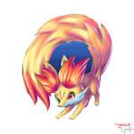 Fennekin as Firefox logo 2
