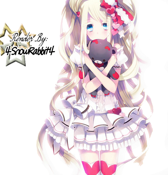 Cute Anime Girl Render By 4snowrabbit4 On Deviantart