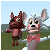 Mangle and foxy Chat icon
