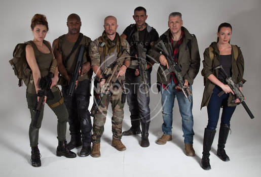 Post Apocalyptic Group 44 - Stock Photography
