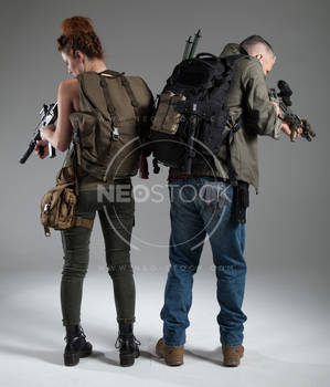 Post Apocalyptic Group 43 - Stock Photography