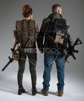 Post Apocalyptic Group 42 - Stock Photography