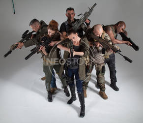 Post Apocalyptic Group 27 - Stock Photography