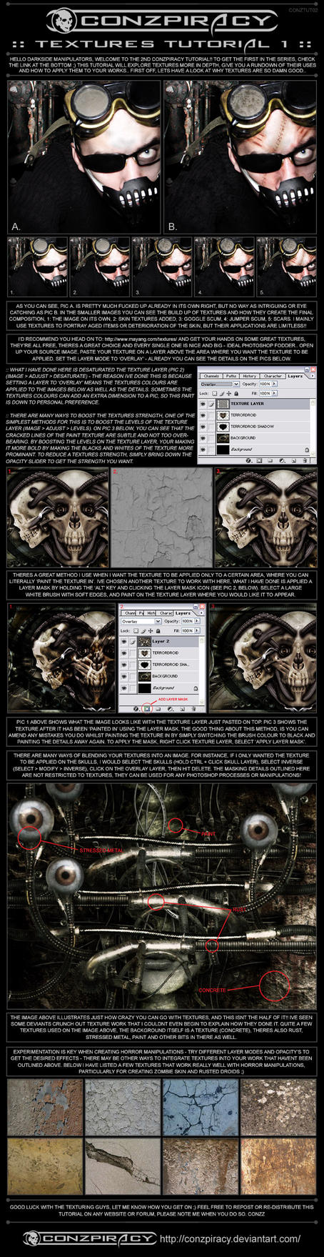 Photoshop Textures Tutorial by conzpiracy