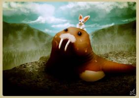 Walrus and bunnys adventure