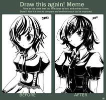 Draw This Again Meme by KurohaAi