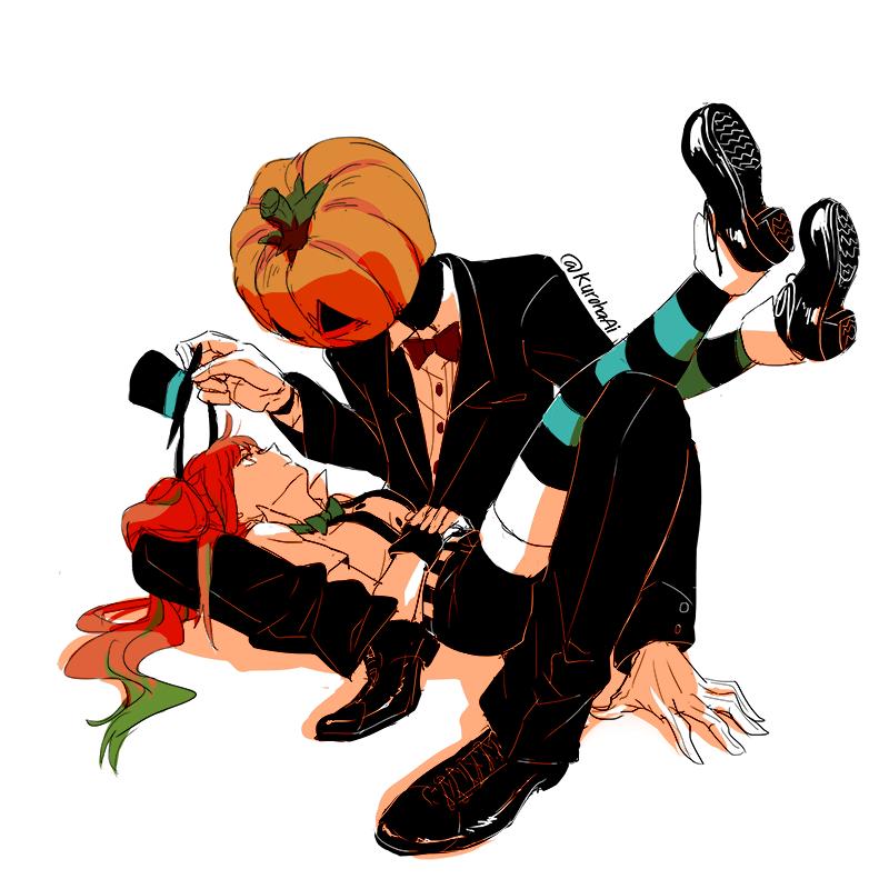 Mrs. Pumpkin and Jack by KurohaAi