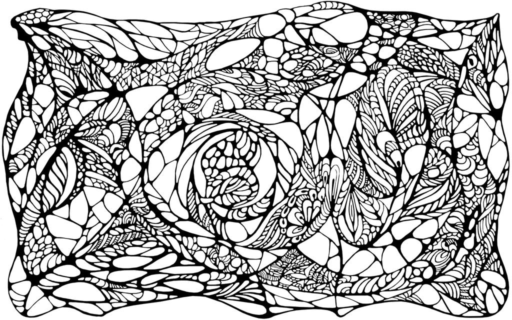Abstraction 2 lineart by exobiology