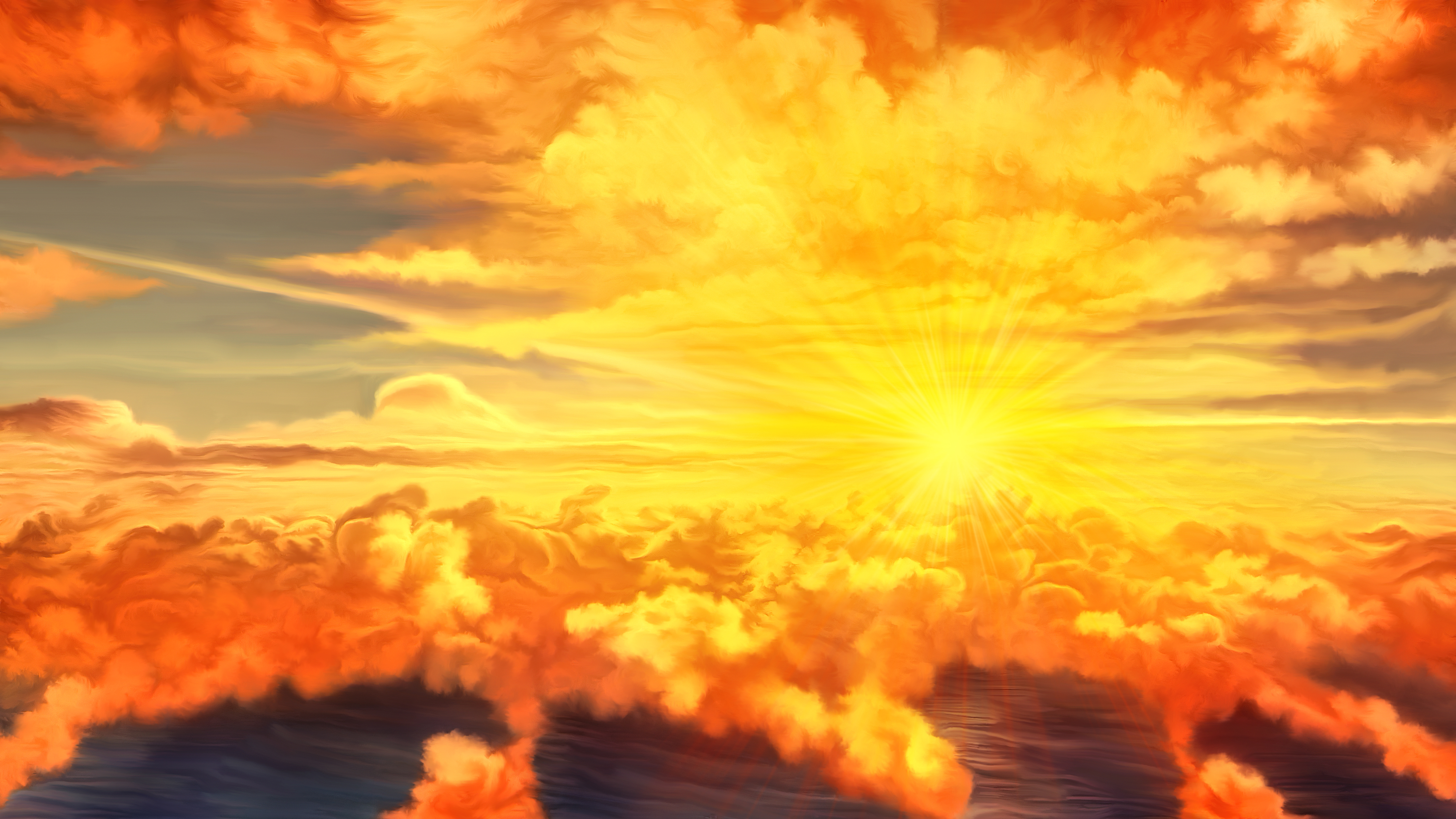 Sunset over the sea by exobiology