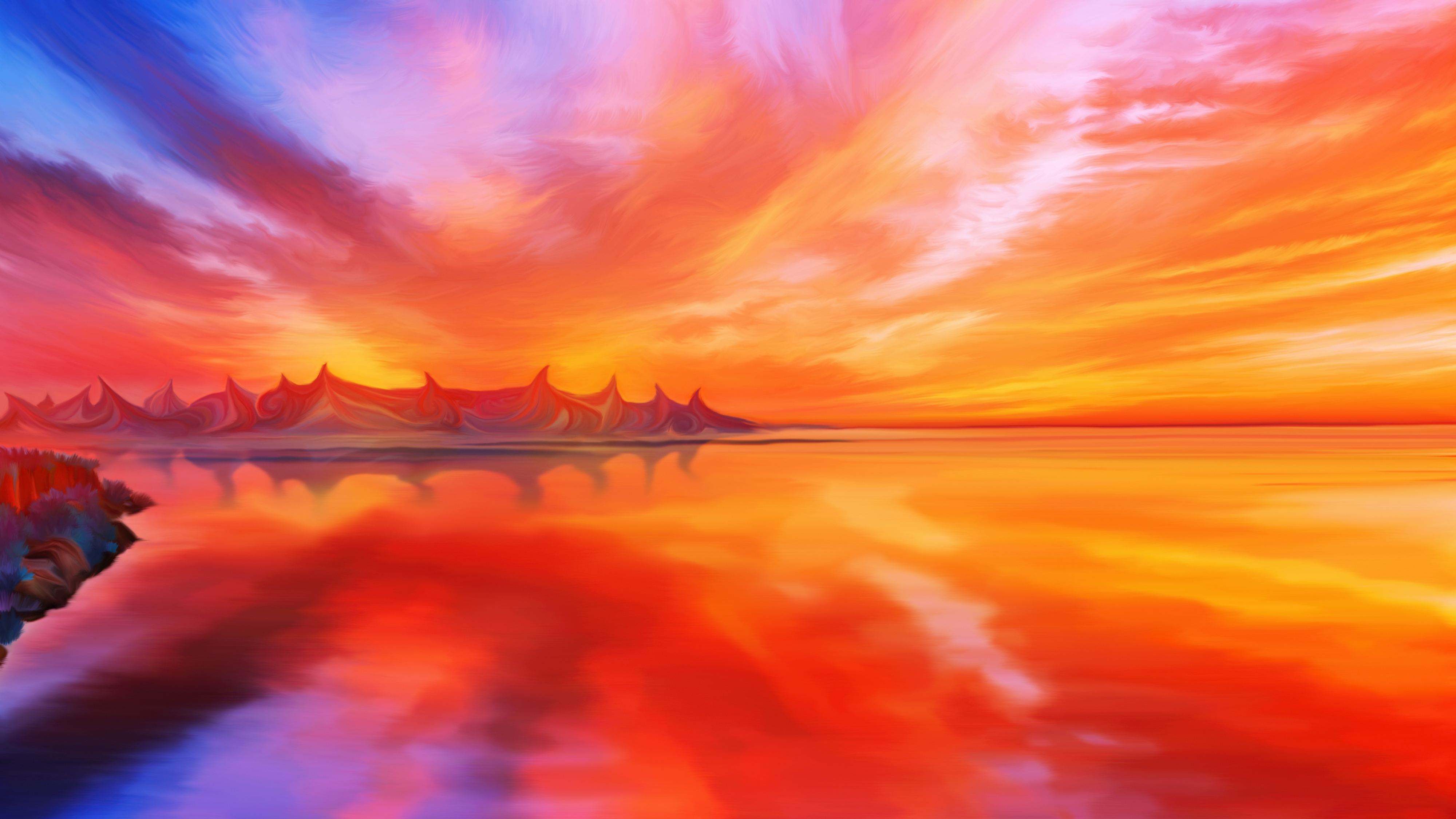 Ardor planet flame mountains by exobiology