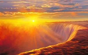 Sunlight waterfall by exobiology