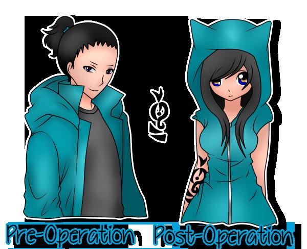 Ryuko- Pre-op and Post-op by xxEndlessSummerxx