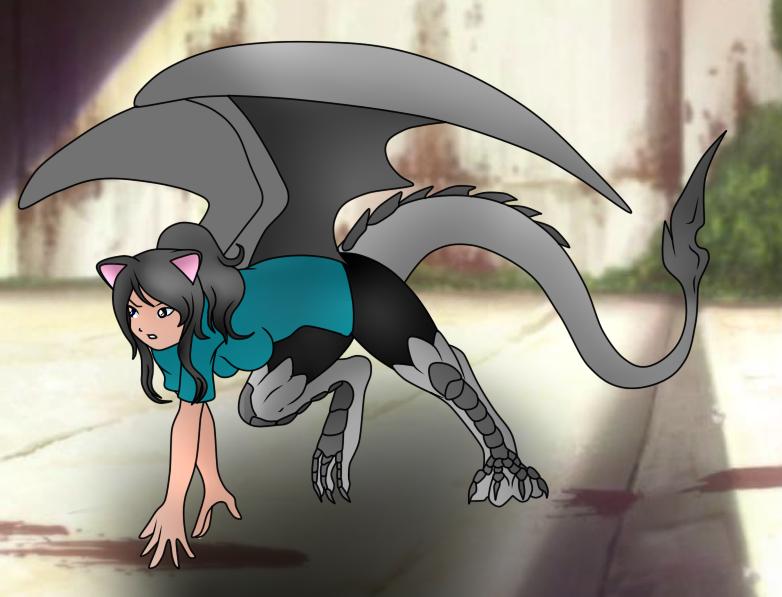 Draconic Neko, Ryuko Oken by xxEndlessSummerxx