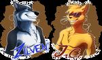 Badge: J.C. and N.Z. by FeysCat