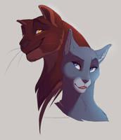 Warrior cats : Oakheart And Bluestar