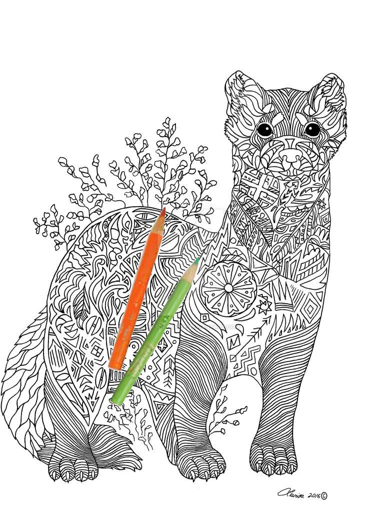 Black-Footed Ferret by ArtOfElysee