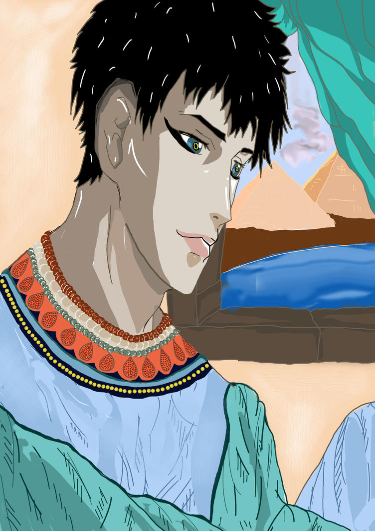 Merlin as an Egyption pharaoh by merlinlover