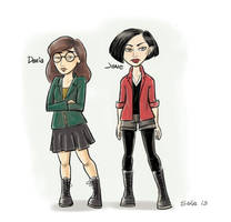 another Daria and Jane fanart by AmySake