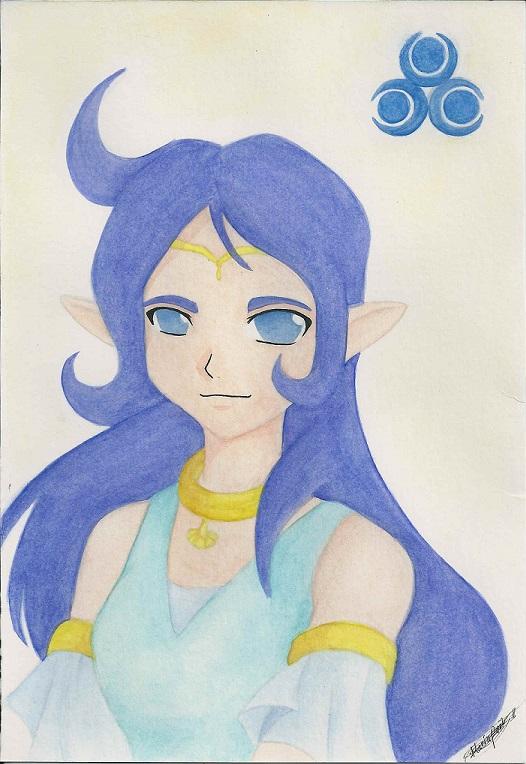 The Legend of Zelda: Oracle of Ages. Nayru by Mizuki4884