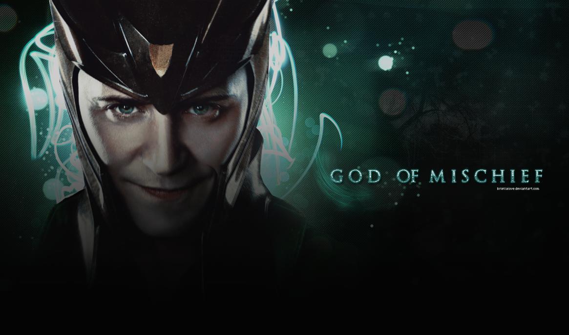 Good Wallpaper Marvel Loki - loki_god_of_mischief_wallpaper_by_briellalove-d5auwhk  Picture_504279.png