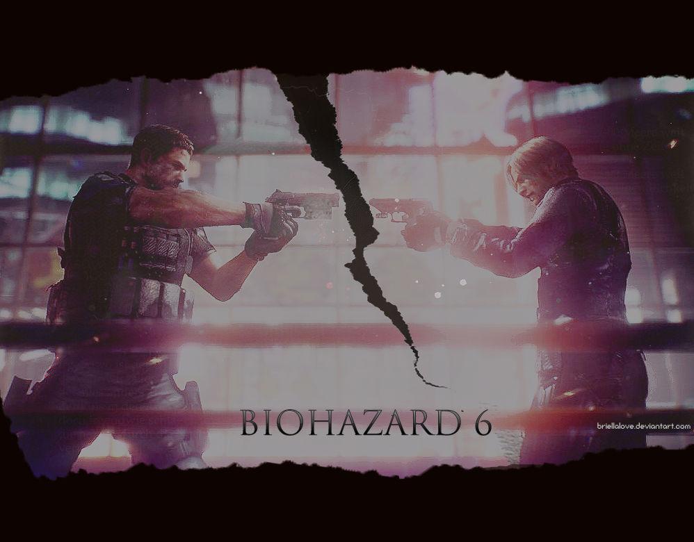 Resident Evil 6 Chris Vs Leon Wallpaper By Briellalove On Deviantart