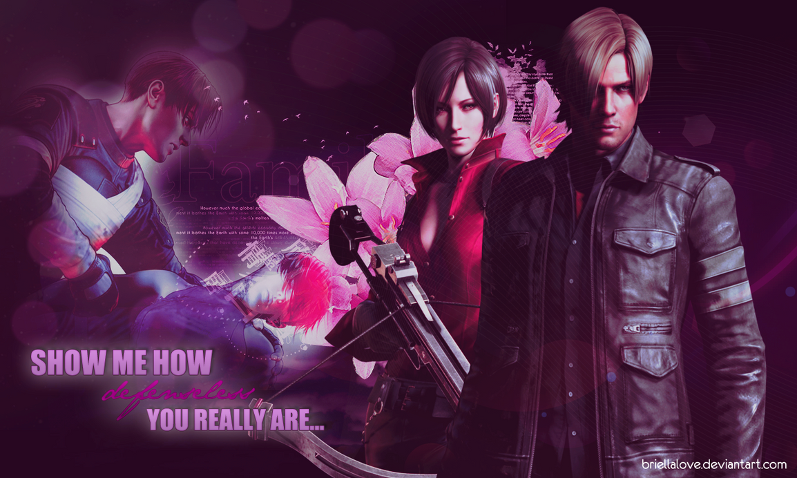 Ada And Leon RE6 Wallpaper by BriellaLove