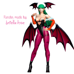 Morrigan Full Pose by BriellaLove