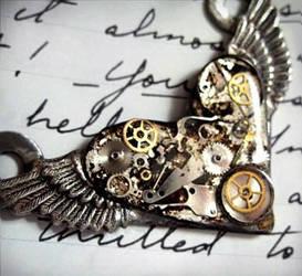 Steampunk Flying Heart