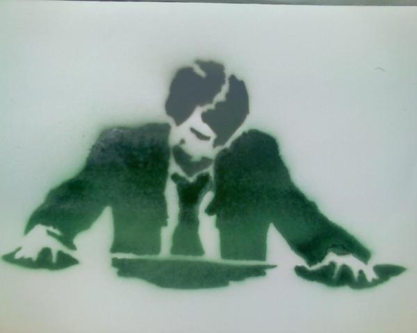 Man in Suit: Spray Paint by RetainGridUS