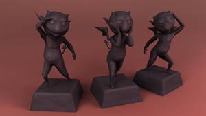 Imp Statues by Tspuun