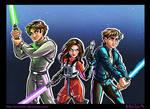 Jacen, Jaina, and Anakin Solo: New Jedi Order
