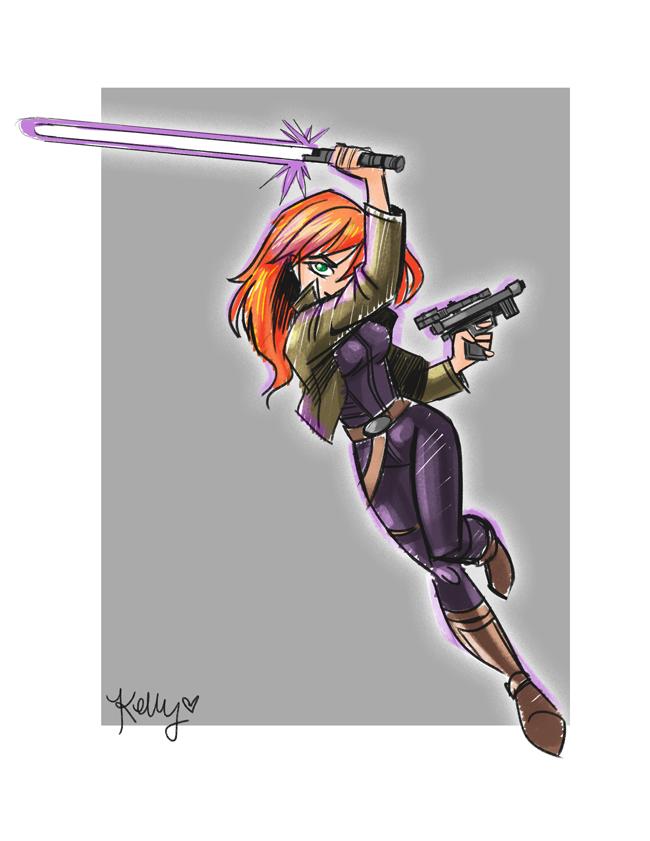 Mara Jade Sketch by KMRicker