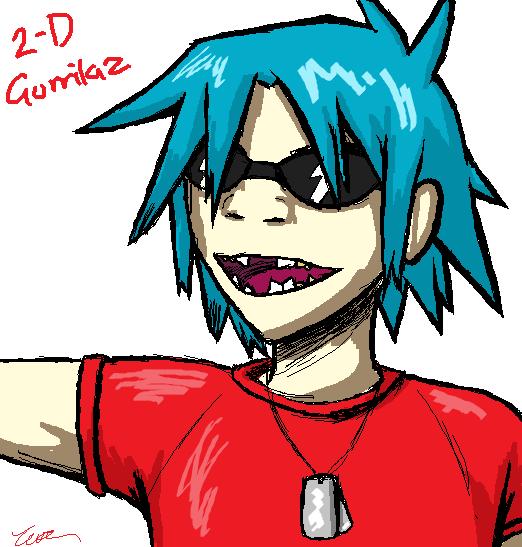 Gorillaz - 2-D by JustSomeRandomKidLol