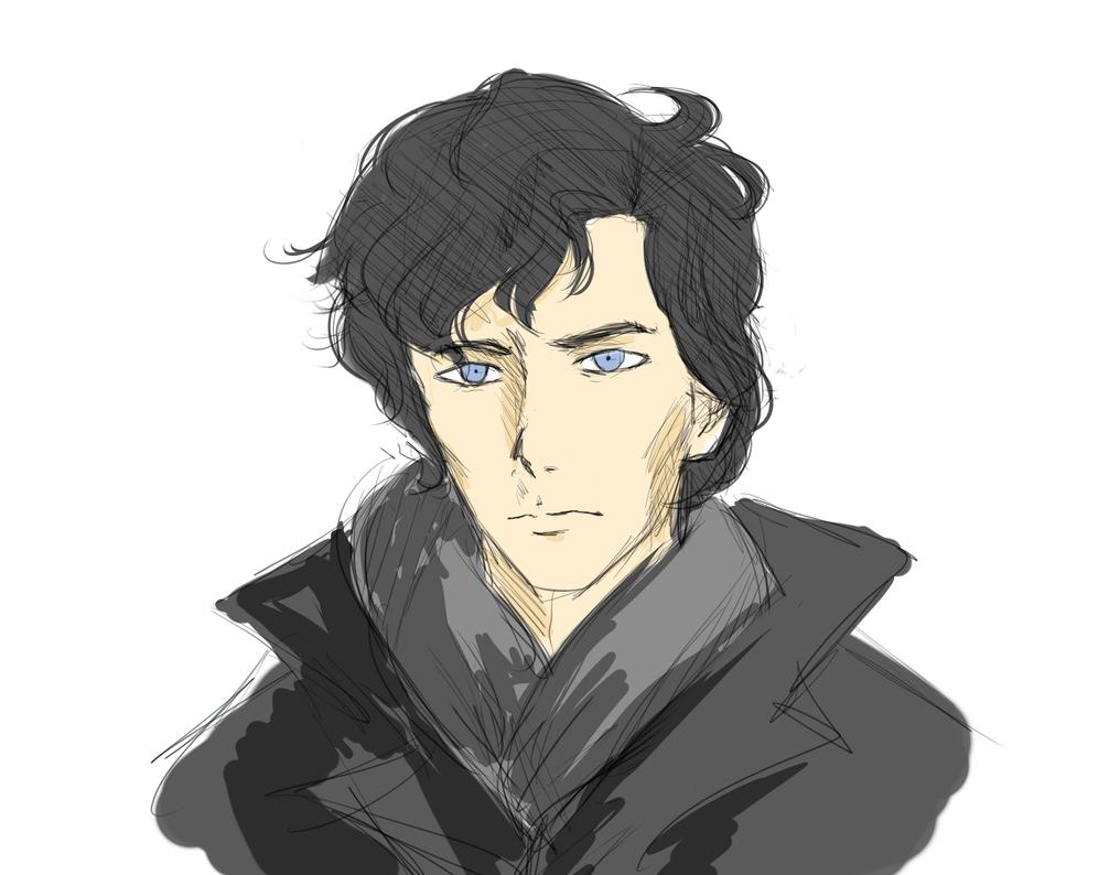 Как нарисовать шерлока холмса карандашом поэтапно