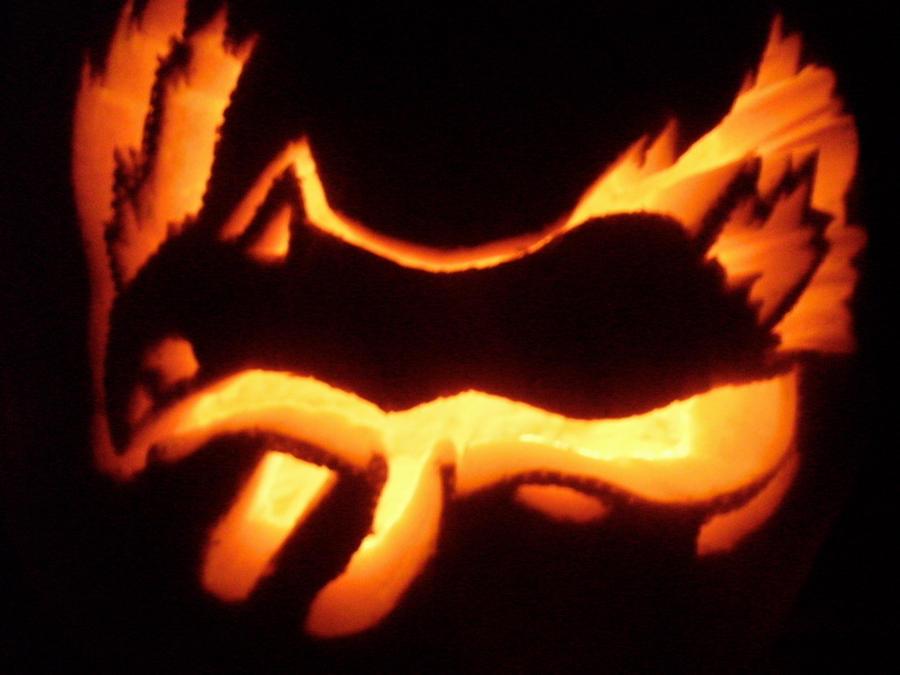 Quilava Pumpkin by darkangel-dream