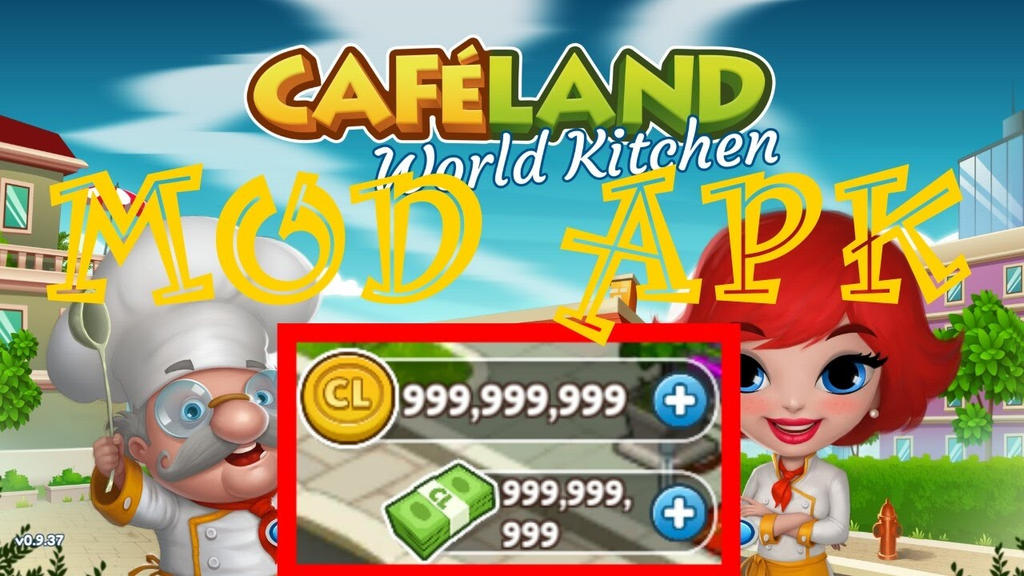 Cafeland world kitchen apk mod by apksection on deviantart for Kitchen queen mod apk
