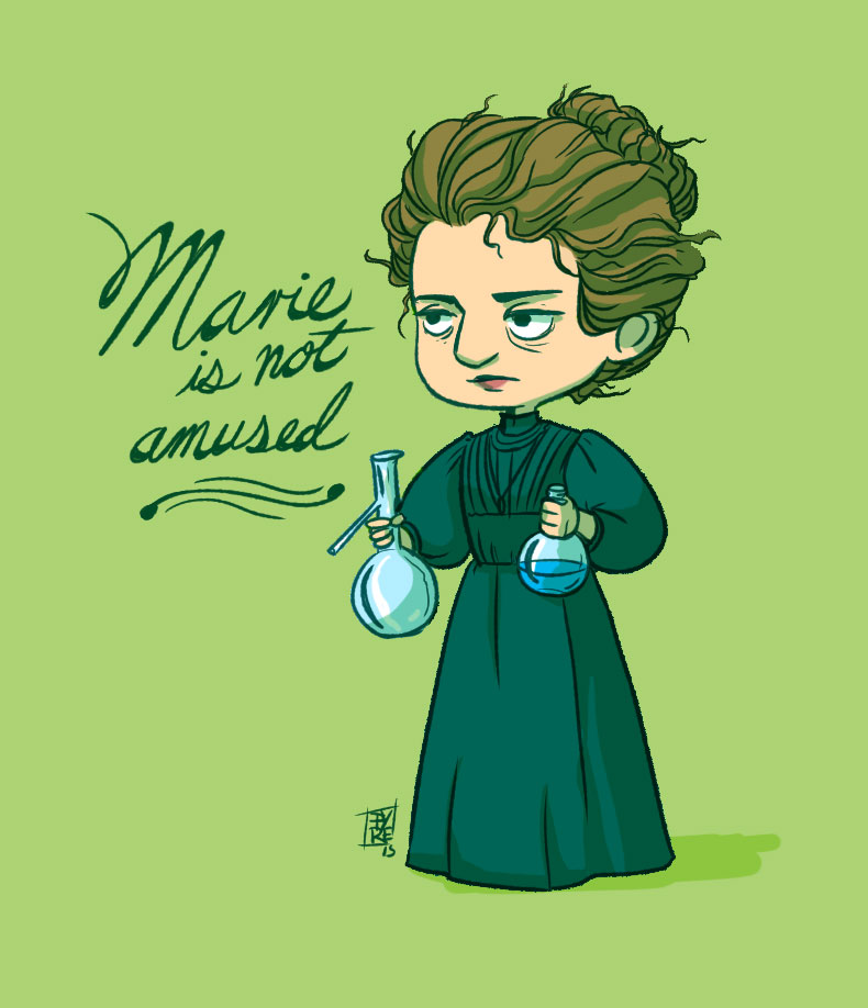It is a picture of Intrepid Marie Curie Drawing