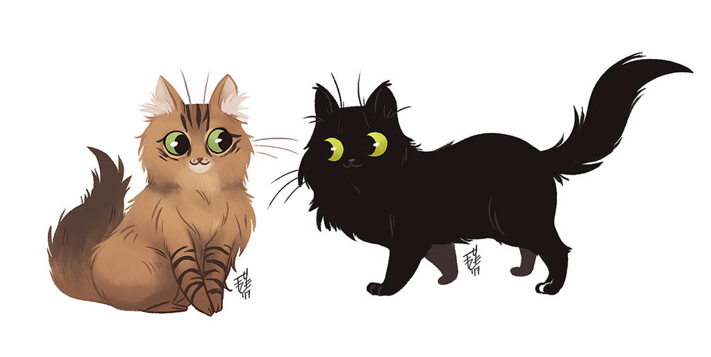 Kitties by fydraws
