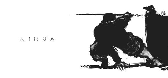 Facebook Graffiti: Ninja by slownsilent