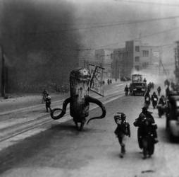 Fleeing Nagasaki 1945 by red-december