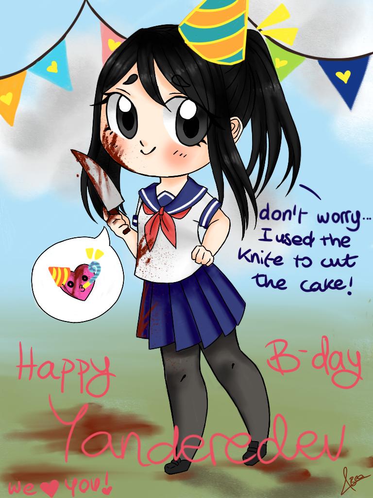 Happy B-day YandereDev!! by Bea2028