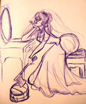 The bride is bored........