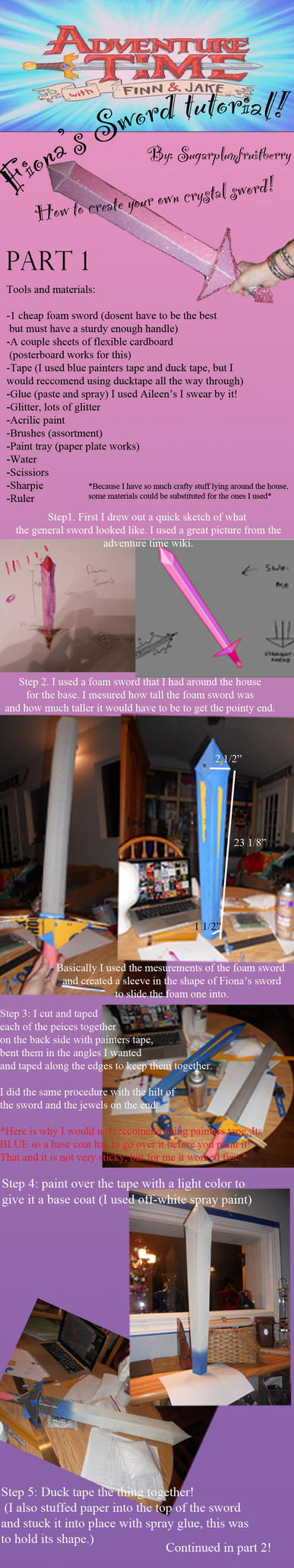 Fiona's Sword Tutorial part 1 by SugarplumFruitBerry