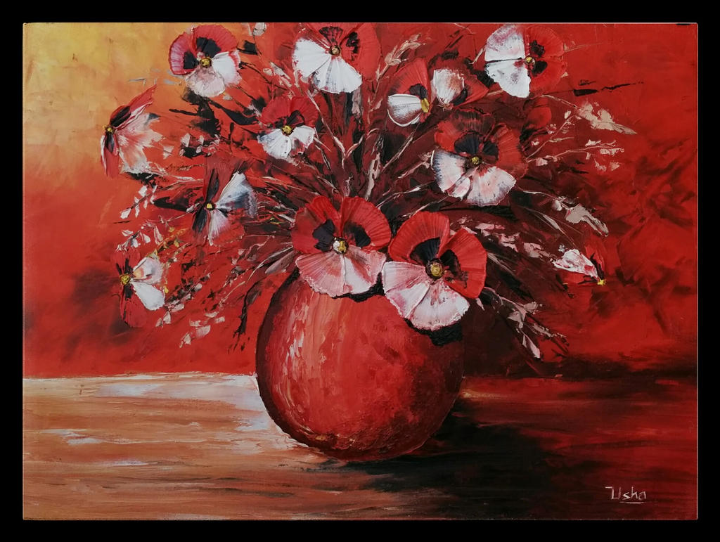 Flower vase oil painting 1824 inch canvas by journey with flower vase oil painting 1824 inch canvas by journey with colors floridaeventfo Images
