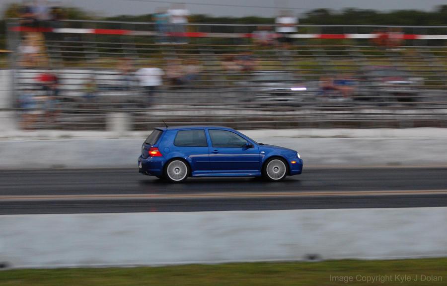 Blue VW Drag Race by Focus-Fire