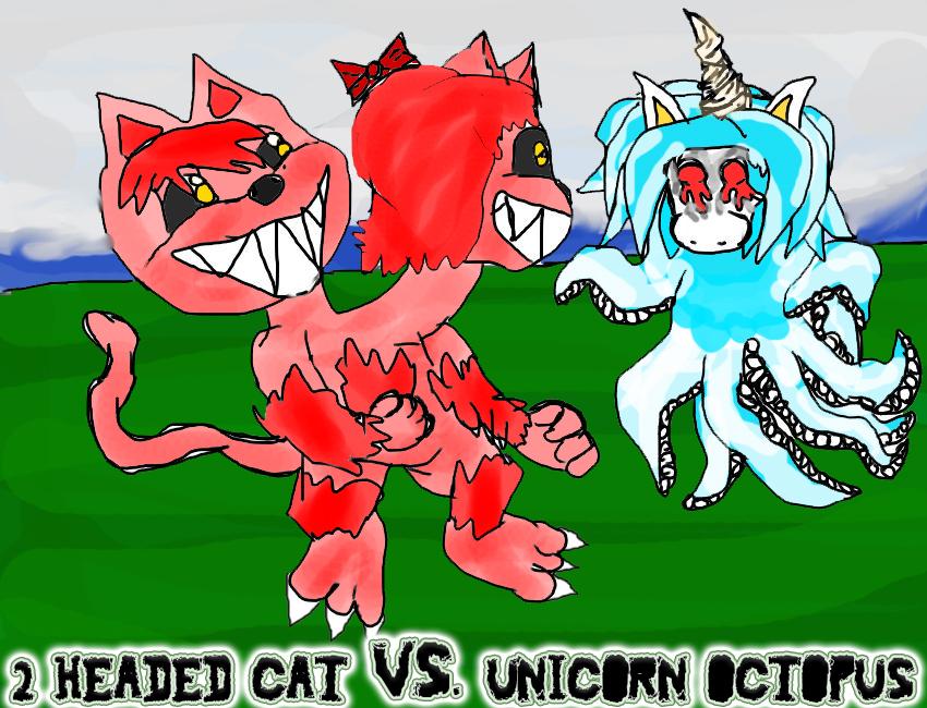 Headed Cat Vs Unicorn Octopus