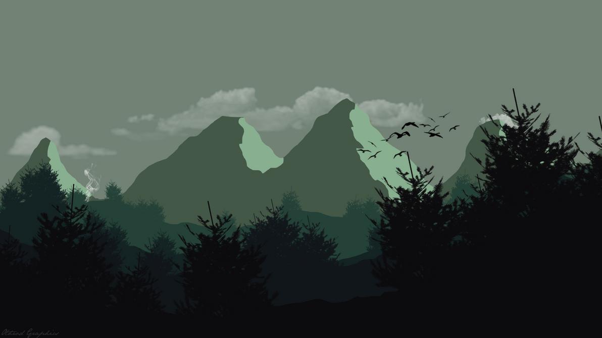 flat landscape wallpaper by othrod on deviantart