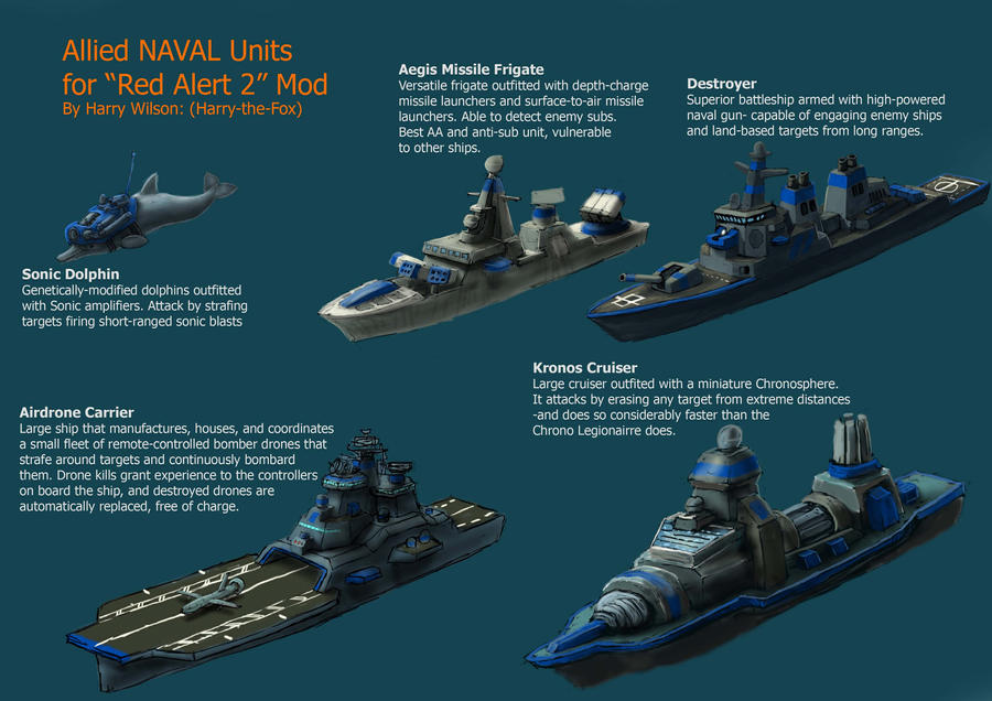 RA2 Mod Allied Ships By Harry The Fox