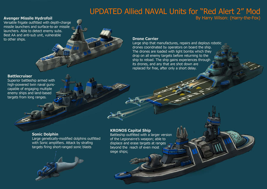 RA2 Mod NEW Allied Navy By Harry The Fox