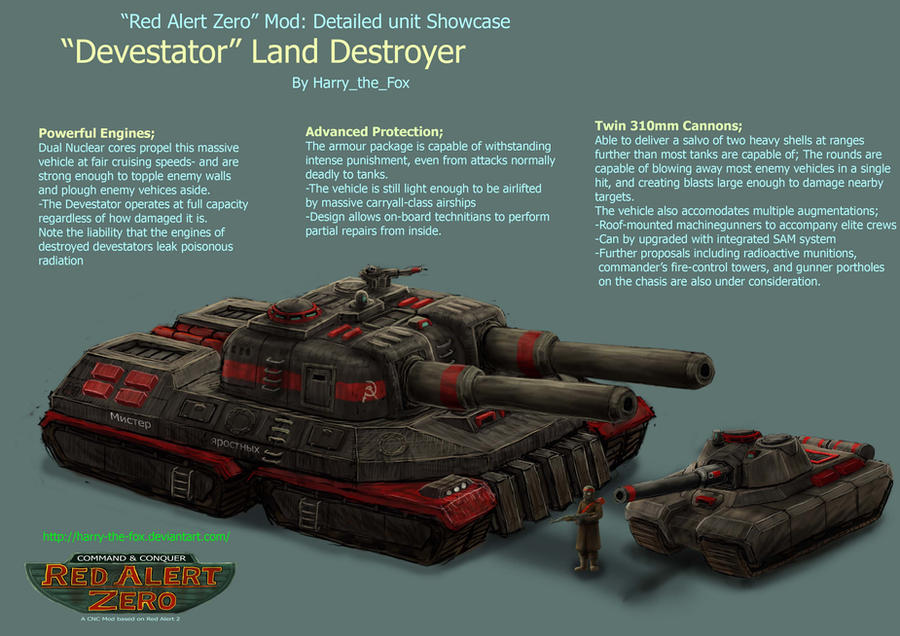 RA2 Mod- Soviet Devastator by Harry-the-Fox